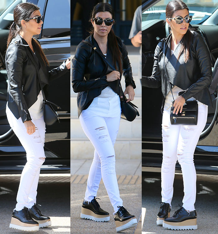 kourtney-kardashian-lipsy-jacket-stella-mccartney-flatform-oxfords